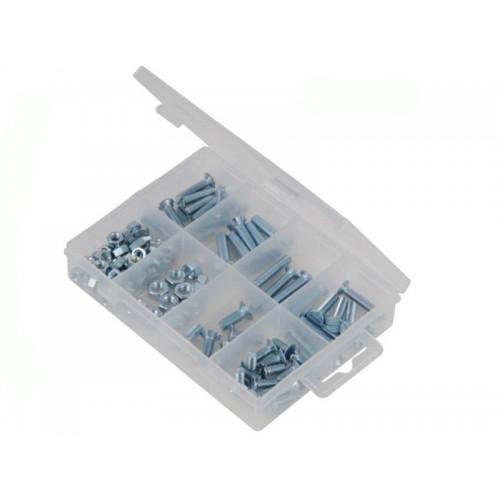 Zestaw wkrętów maszynowych i ustalających CSK 105 szt