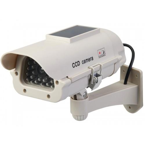 Atrapa kamery monitorującej CCTV z modułem solarnym i diodą