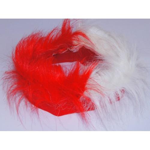 Opaska kibica, biało-czerwona peruka