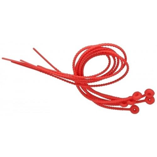Sznurki do wiązania portaw silikonowe 6 szt, 54 cm, czerwone