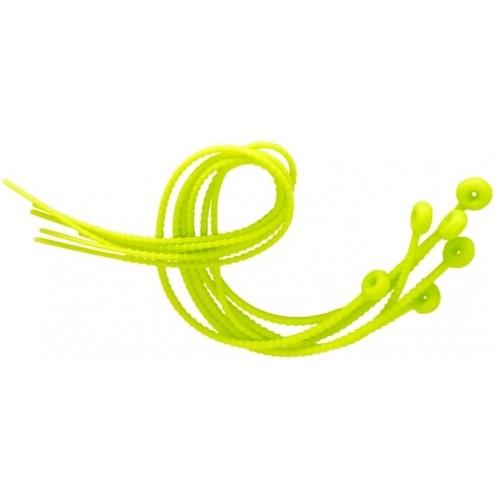 Sznurki do wiązania portaw silikonowe 6 szt, 54 cm, zielone