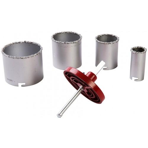 Otwornice z węglika wolframu do betonu i płytek, 6 elementów