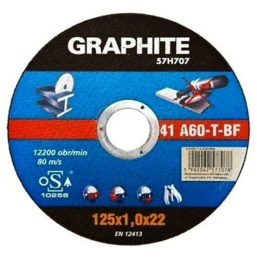 TARCZA DO METALU 125x1.0x22.2mm, GRAPHITE 57H707