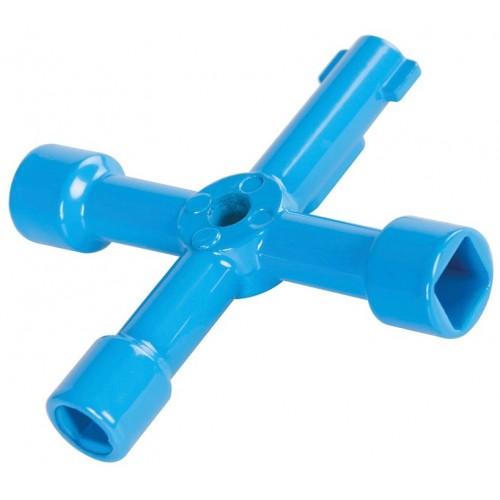 Klucz uniwersalny krzyżakowy do rozdzielni i szaf elektrycznych