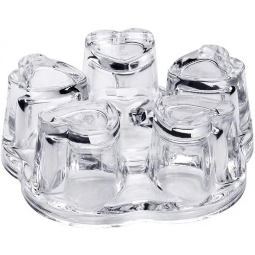 Podgrzewacz pod dzbanek szklany serduszka