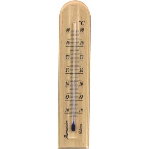 Termometr pokojowy 20,5 cm jasne drewno