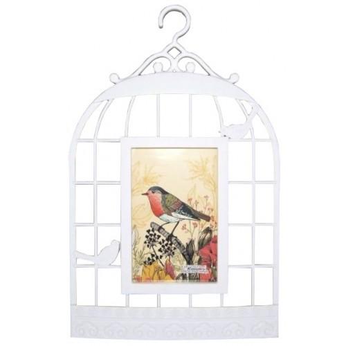 Ramka na zdjęcie ptak w klatce