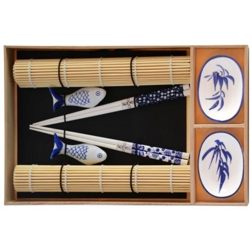 Zestaw do sushi dla 2 osób miseczki+pałeczki+maty
