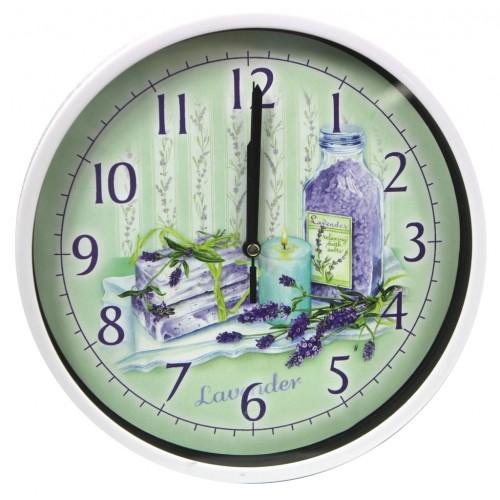 Zegar ścienny okrągły lawenda