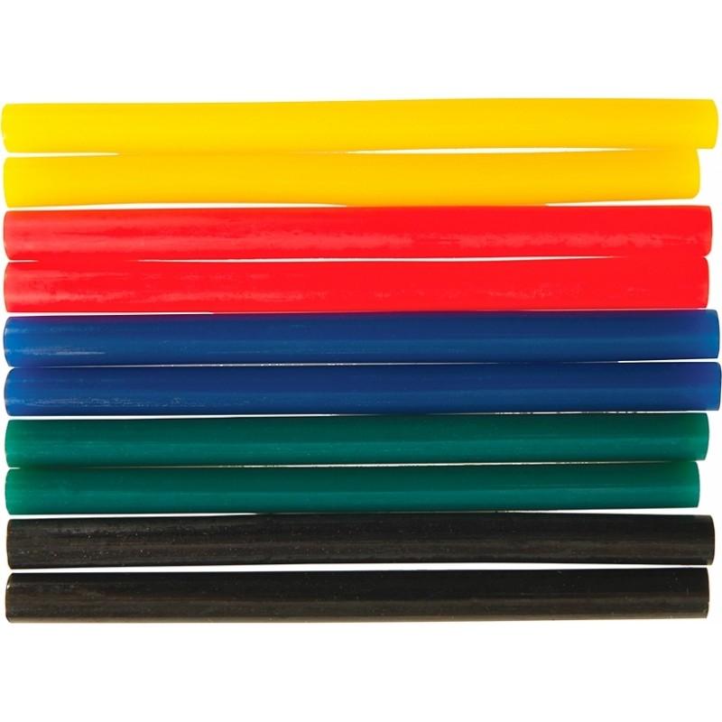 Kolorowe mini wkłady klejowe, 10szt, 476310