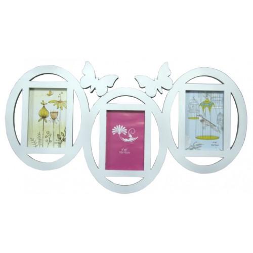 Ramka na 3 zdjęcia motyl 25x75 cm
