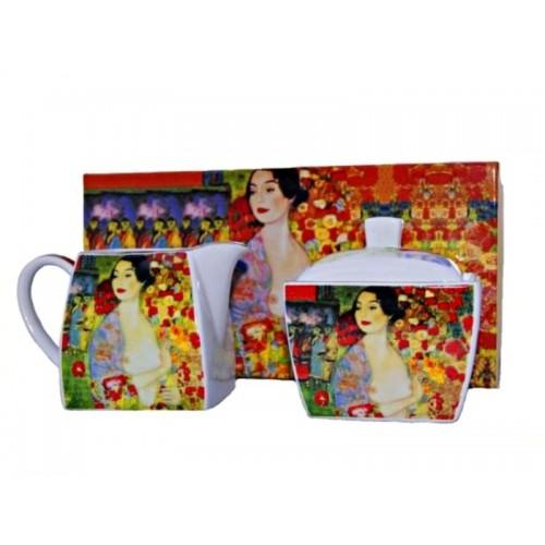 Mlecznik + cukiernica G.Klimt 'The Dancer', SHIYE/SP.MP/DNCR/SS.2