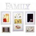 Ramka na 5 zdjęć, kolaż biały FAMILY