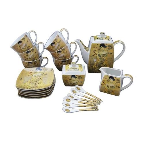Serwis do herbaty kawy 21 elementów Gustav Klimt