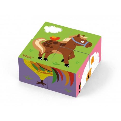 Kostki puzzle - farma 50835 Viga