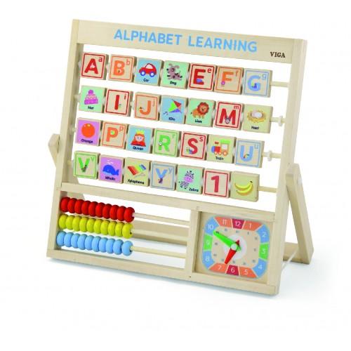 Tabliczka 3w1 Nauka alfabetu, godzin, liczenia 50033 Viga