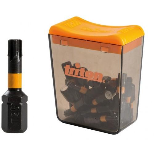 Bity udarowe TORX T20 25mm ZESTAW 25 szt