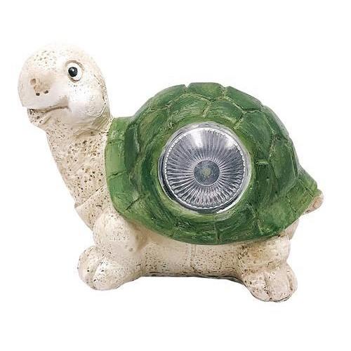 Lampa solarna ogrodowa żółwik