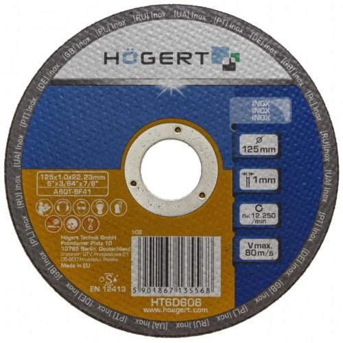 Tarcza korundowa do cięcia inox 125x1.0 mm