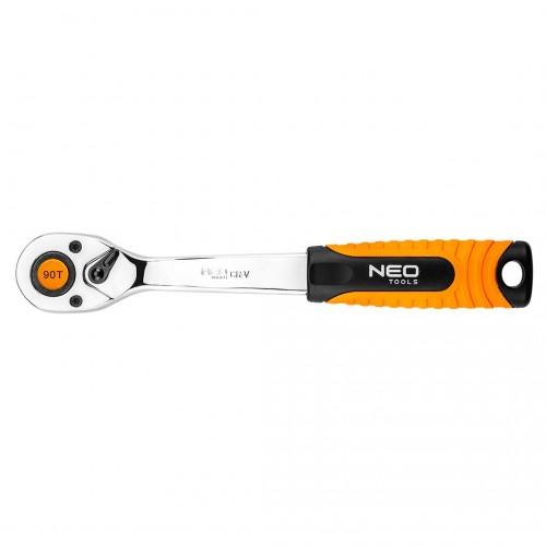 """NEO 08-533 GRZECHOTKA 3/8"""" 90T 200mm"""