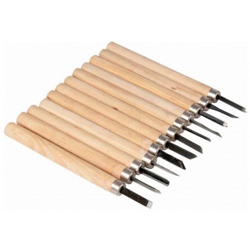 Zestaw dłut do obróbki drewna, 12 elementów