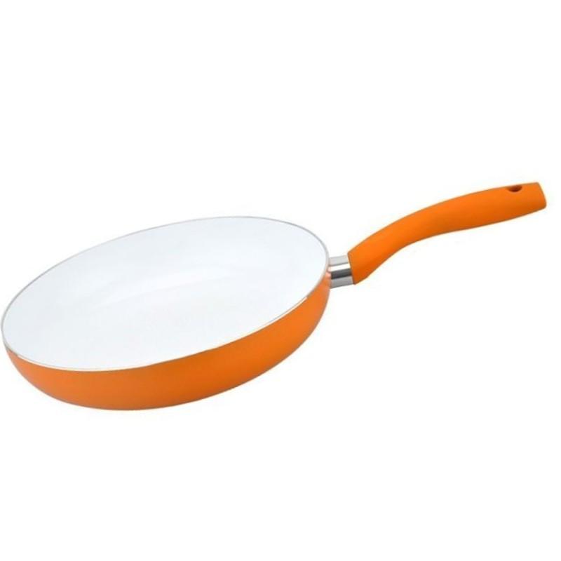 Patelnia ceramiczna Prima Marigold 28cm pomarańczowa