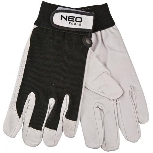 Rękawice robocze ochronne skórzane na rzep r. 10