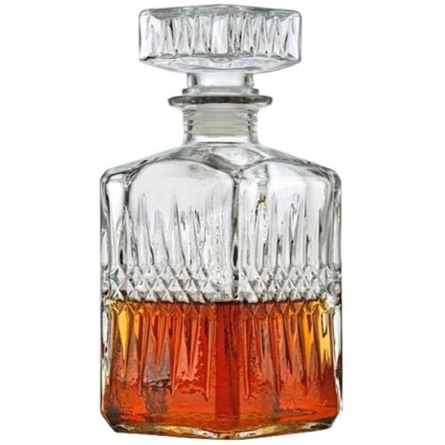 Karafka szklana ozdobna z korkiem 850 ml