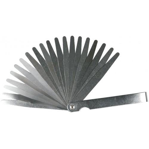 Szczelinomierz 20 listków, 0,05-1 mm