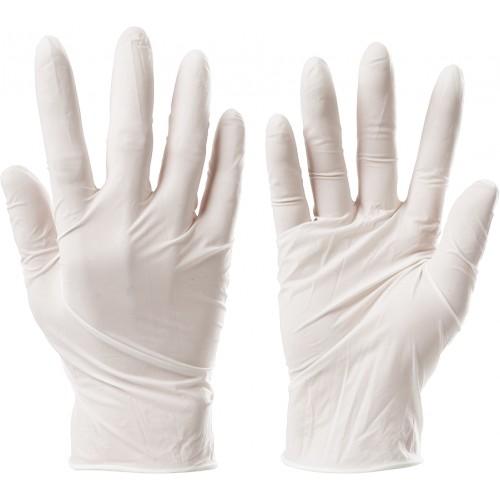 Mocne rękawiczki lateksowe rozmiar M