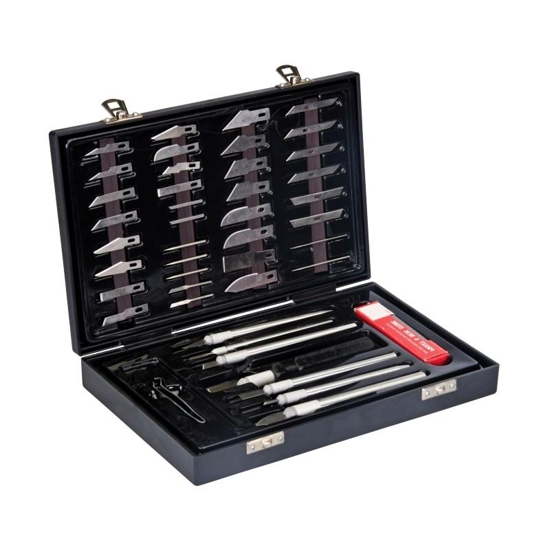Zestaw skalpeli i nożyków do prac modelarskich, 51 elementów