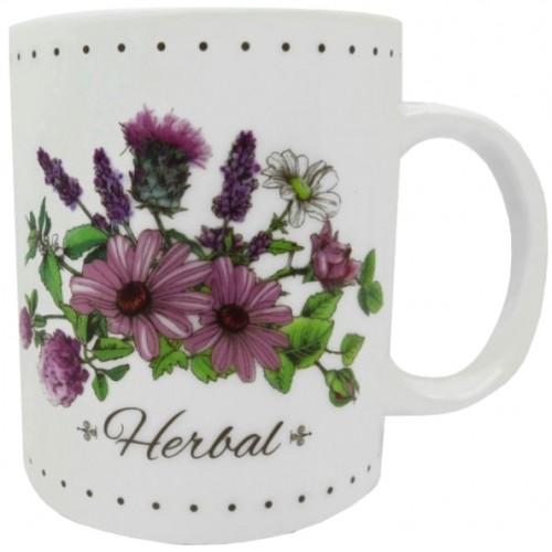 Kubek porcelanowy 310 ml motyw kwiatowy